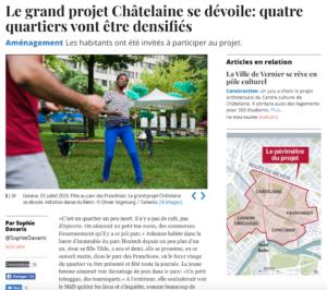 Le grand projet Châtelaine se dévoile